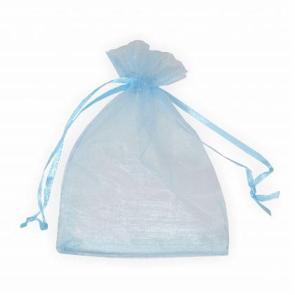 Organzabeutel 9 x 12 cm hellblau 6 Stück Premium Qualität Organzasäckchen