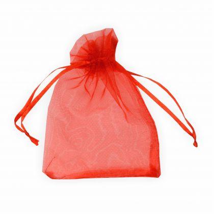 Organzabeutel 9 x 12 cm rot 6 Stück Premium Qualität Organzasäckchen