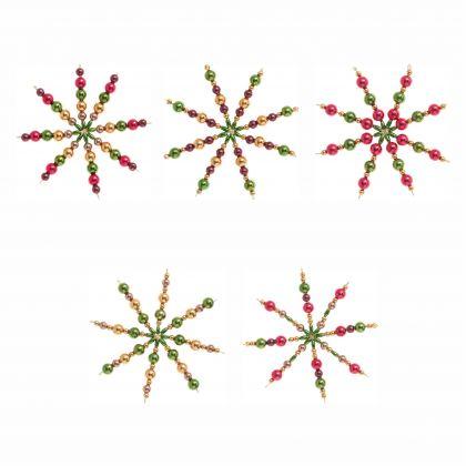 Perlensterne Set CLASSIC, 340-teilig für 5 Sterne