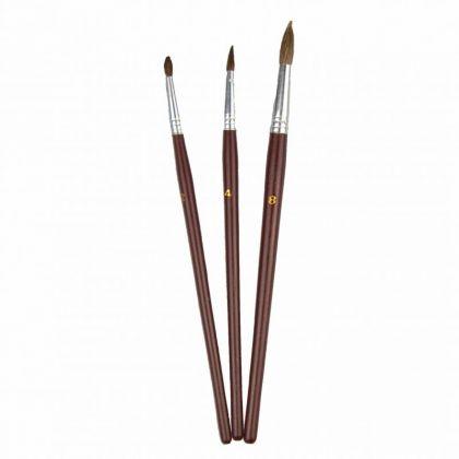 Pinselset 3 Haarpinsel 2-4-8