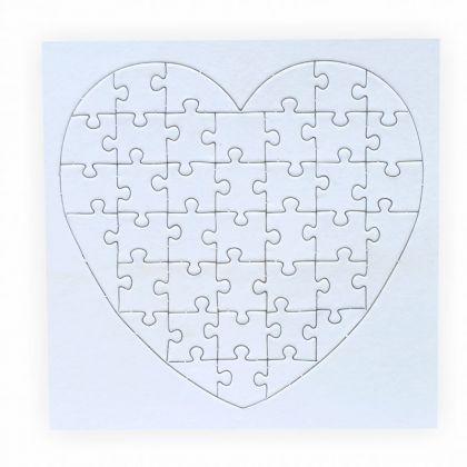 Puzzle zum bemalen Herz 40 Teile 5 Stück