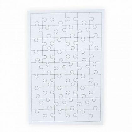 Puzzle zum bemalen Viereck 54 Teile 5 Stück