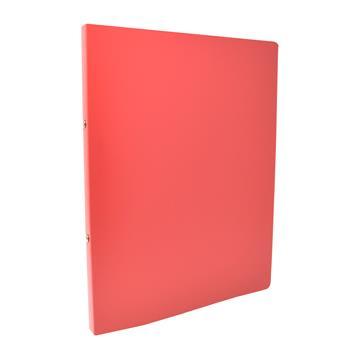 Ringbuch aus PP A4, Rot 2-Ringe, Ø 17 mm