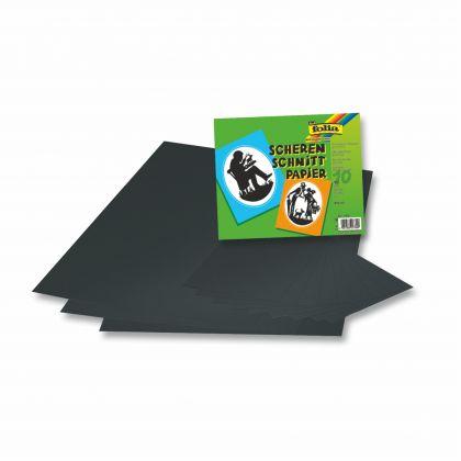 Scherenschnittpapier gummiert DIN A5 10 Blatt schwarz