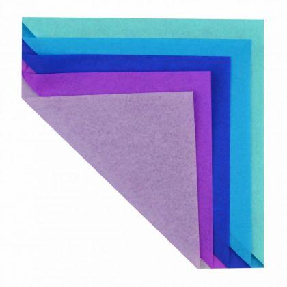 Seidenpapier 20g/qm 50x70 cm lila blau sortiert