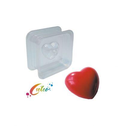 Seifengiessform zweiteilig Herz 125g