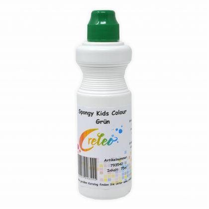 Spongy Kids Colour - grün 75 ml Kindermalfarbe mit Schwamm