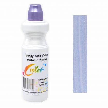 Spongy Kids Colour - metallic flieder 75 ml Kindermalfarbe mit Schwamm