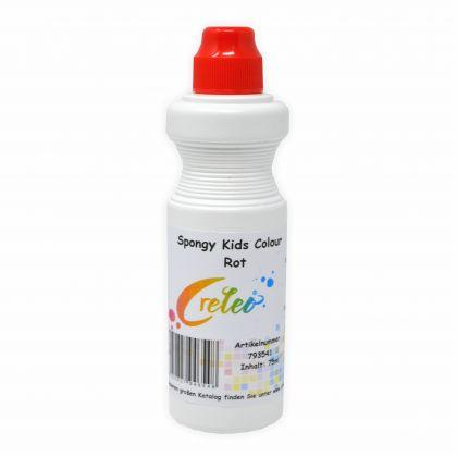 Spongy Kids Colour - rot 75 ml Kindermalfarbe mit Schwamm