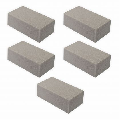 Steckschaum 5 Stück grau für Trockenblumen 23x11x8 cm Steckmasse