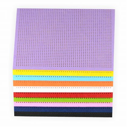 Stickfilz, 21x29,5cm, 10 Blatt farbig sortiert