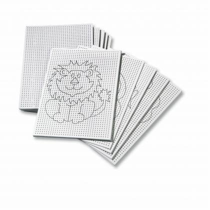 Creleo - Stickkarton 300g/m², weiß unbedruckt - blanko 17,5x24,5cm, 40 Blatt