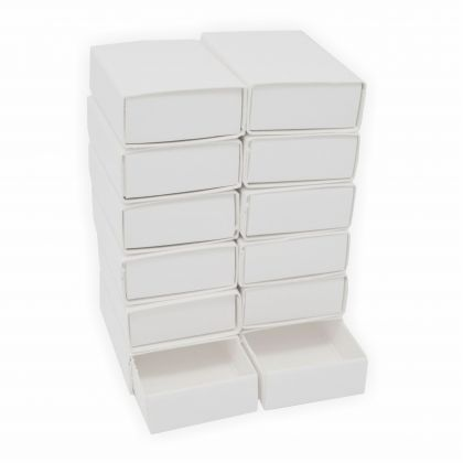 Streichholzschachtel blanco 12 Stück 53x35x15 mm weiss innen und außen