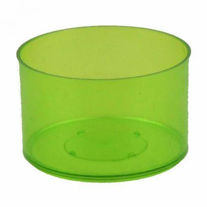 Teelichthüllen 25 Stück dunkelgrün transparent Kunststoff