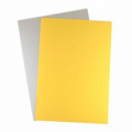 Tonpapierblock Gold Silber matt A4