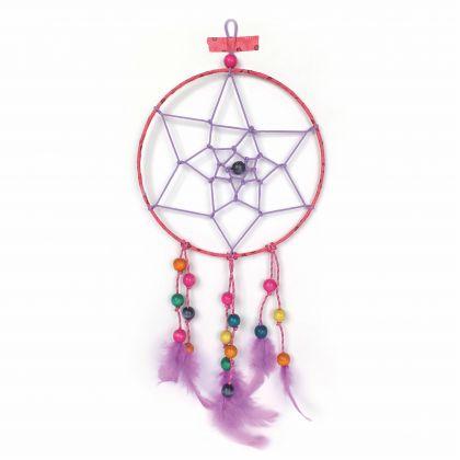Traumfänger - Dreamcatcher Bastelset rosa pink 20 cm