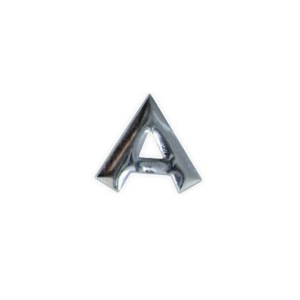 Wachsbuchstaben A silber 12 mm