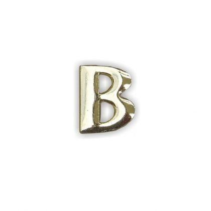 Wachsbuchstaben B gold 12 mm