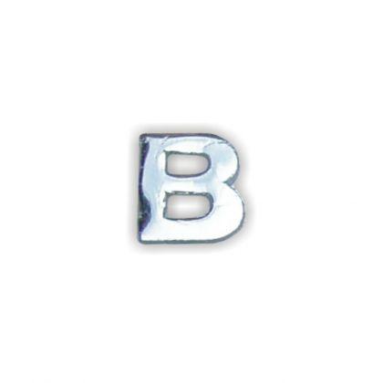 Wachsbuchstabe B silber 8 mm