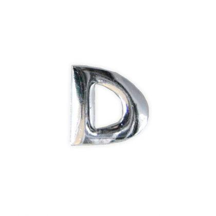 Wachsbuchstaben D silber 12 mm
