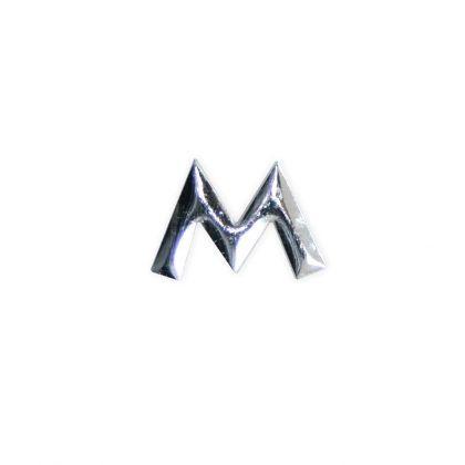 Wachsbuchstaben M silber 12 mm