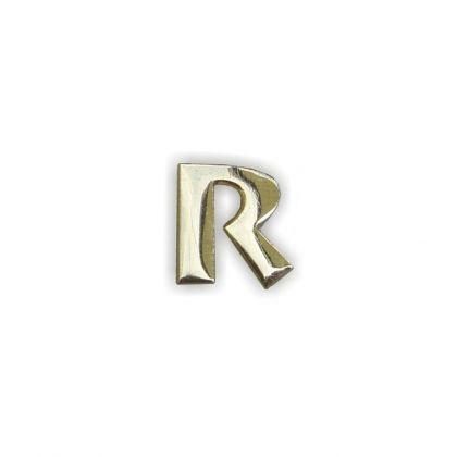 Wachsbuchstaben R gold 12 mm