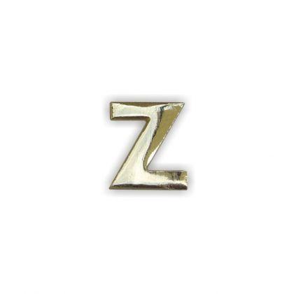 Wachsbuchstaben Z gold 12 mm