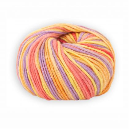 Wolle Serie - Woodstock - Regenbogen 1 - 72 % Baumwolle 28 % Schurwolle