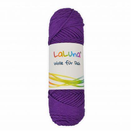 Wolle uni Serie -Florida- violett 100 % Baumwolle 50g, Häkelgarn Schulgarn Topflappengarn Marke: LaLuna®