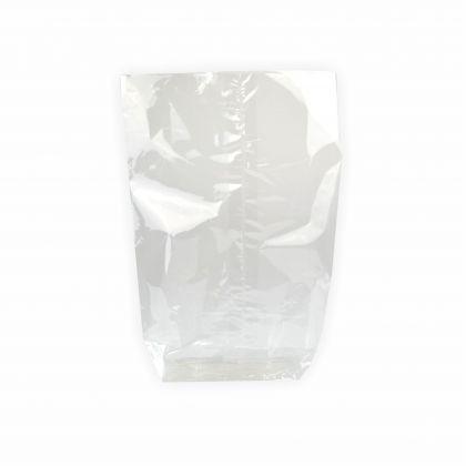 Creleo - Zellglasbeutel Bodenbeutel ohne Druck 145x235mm, 10 Stück für Lebensmittel geeignet inkl. Goldclipse