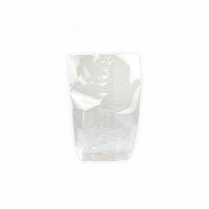 Creleo - Zellglasbeutel Bodenbeutel ohne Druck 95x160mm, 10 Stück für Lebensmittel geeignet inkl. Goldclipse