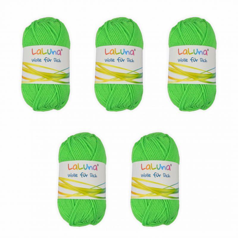 5er Pack Uni Wolle Neon Grün 100 Polyacryl Wolle 250g Garn Zum