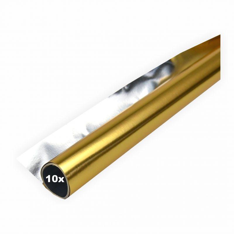 alufolie 10er pack gold silber doppelseitig kaschiert 50x70 cm creleo der bastelshop f r. Black Bedroom Furniture Sets. Home Design Ideas