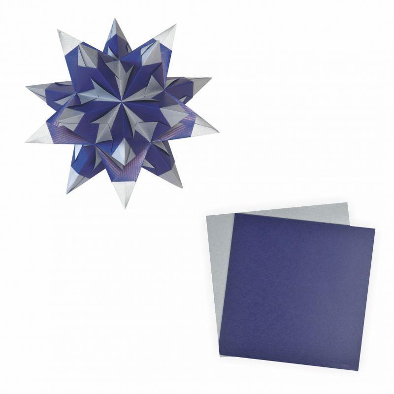 bascetta stern blau silber 20x20cm 30 blatt 75 g m. Black Bedroom Furniture Sets. Home Design Ideas