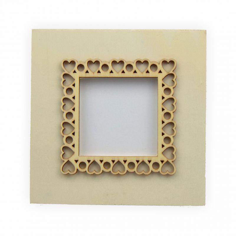 bilderrahmen holz viereck 115x6x115 mm creleo der bastelshop f r kreative k pfe. Black Bedroom Furniture Sets. Home Design Ideas