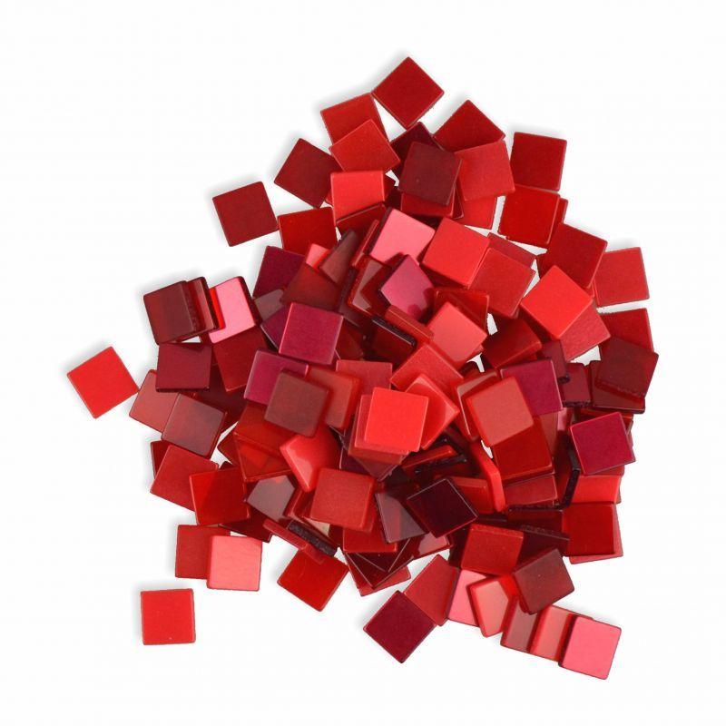 mosaiksteine 10x10mm rot 190 st ck 45 g creleo der bastelshop f r kreative k pfe. Black Bedroom Furniture Sets. Home Design Ideas