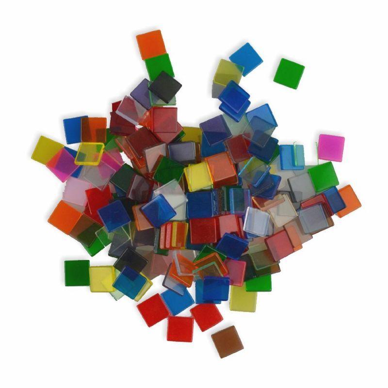 mosaiksteine transparent 10x10mm 190 st ck creleo der bastelshop f r kreative k pfe. Black Bedroom Furniture Sets. Home Design Ideas