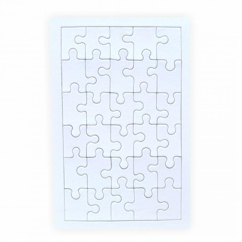 puzzle zum bemalen viereck 30 teile 5 st ck creleo der. Black Bedroom Furniture Sets. Home Design Ideas
