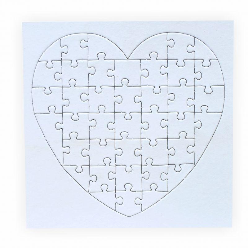 puzzle zum bemalen herz 40 teile 5 st ck creleo der. Black Bedroom Furniture Sets. Home Design Ideas