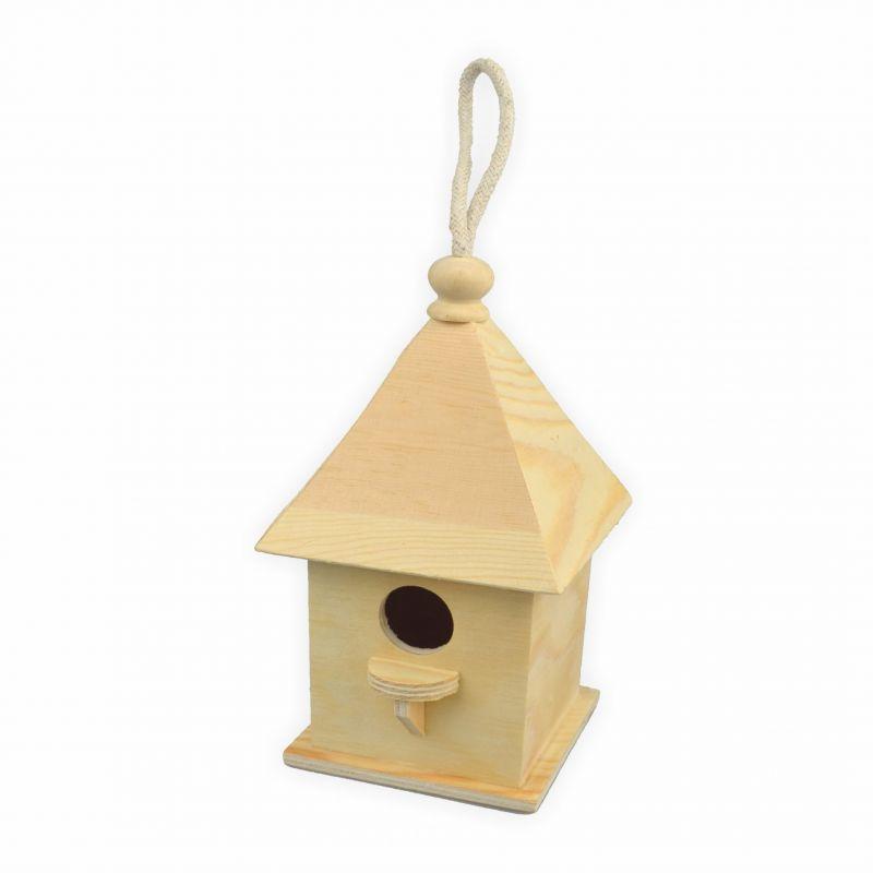 vogelhaus zum bemalen quadratisch h 20 5 cm 11 x 11 cm. Black Bedroom Furniture Sets. Home Design Ideas