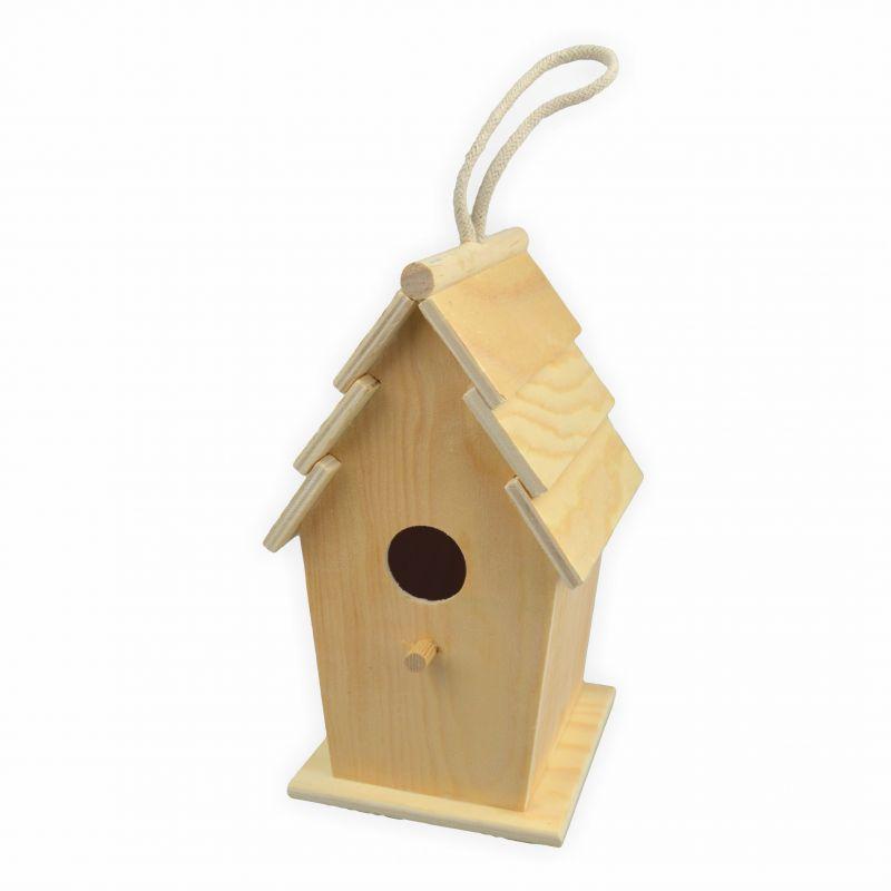 vogelhaus zum bemalen rechteckig h 20 5 d 13 cm creleo. Black Bedroom Furniture Sets. Home Design Ideas