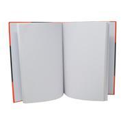 Kladde - Notizbuch DIN A4, schwarz/ rot, kariert 80 g/m²