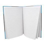 Kladde - Notizbuch DIN A5, schwarz/ blau, liniert 80 g/m²