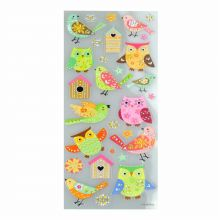 Brilliant-Sticker Birds ca. 10x23cm tolle Motive, sehr brillante Aufkleber