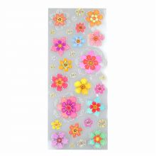 Brilliant-Sticker Flowers ca. 10x23cm, tolle Motive, sehr brillante Aufkleber