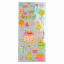 Brilliant-Sticker Party ca. 10x23cm tolle Motive, sehr brillante Aufkleber