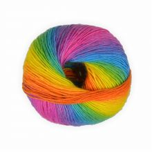 Sockenwolle mixed colors Regenbogen -2- 50g - 200 Meter